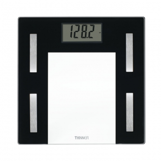 Thinner� Glass Body Analysis Scale with USB Connection